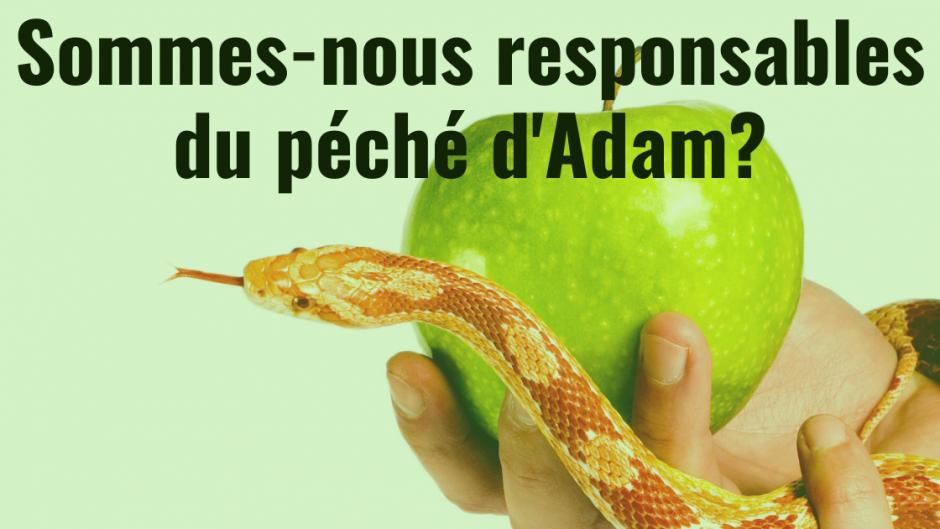 Sommes-nous responsables du péché d'Adam?